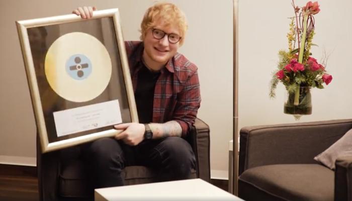 Ed Sheeran najprodavaniji glazbenik u 2017.