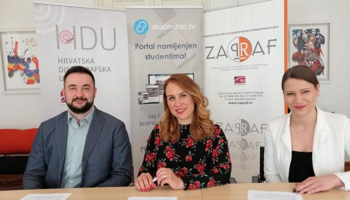 Glazba mladima! Hrvatska diskografska udruga i Udruga ZAPRAF sklopile novu suradnju s portalom Studentski.hr
