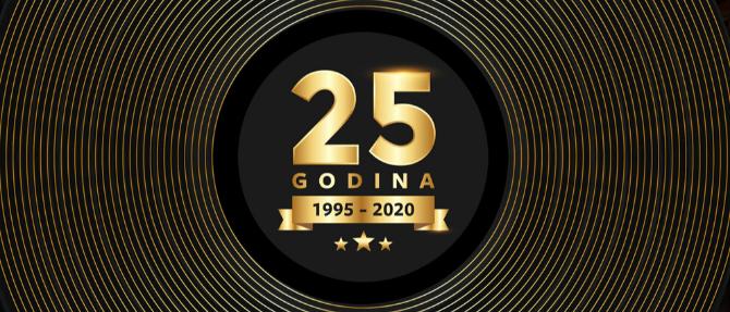 HRVATSKA DISKOGRAFSKA UDRUGA SLAVI 25. ROĐENDAN